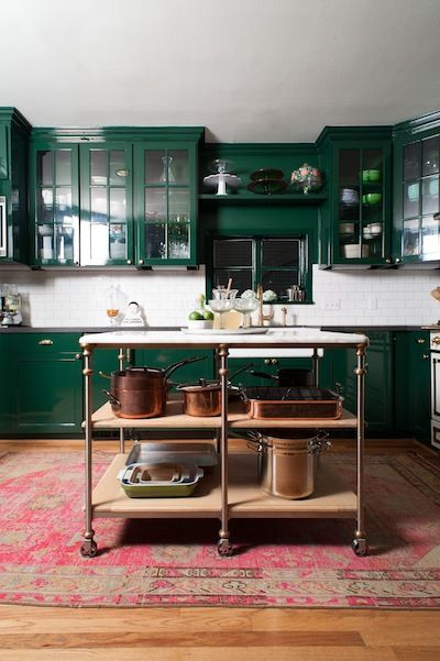 green kitchen design idea 23