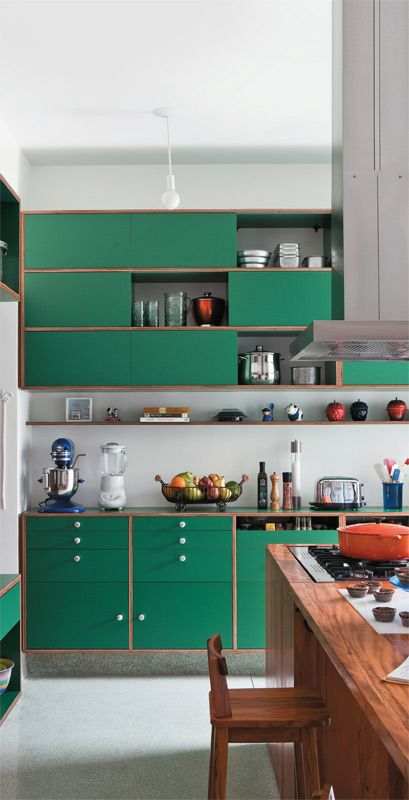 green kitchen design idea 25