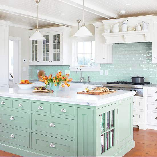 green kitchen design idea 37