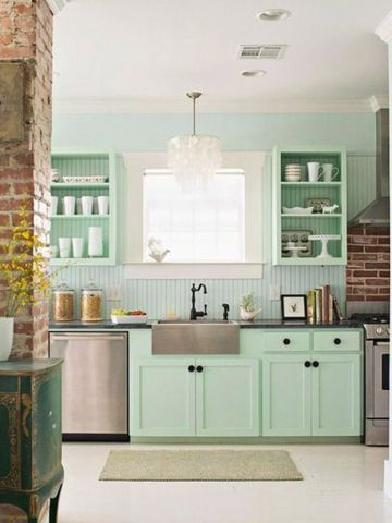 Green Kitchen Design Idea 38