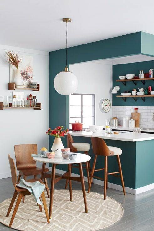 green kitchen design idea 45