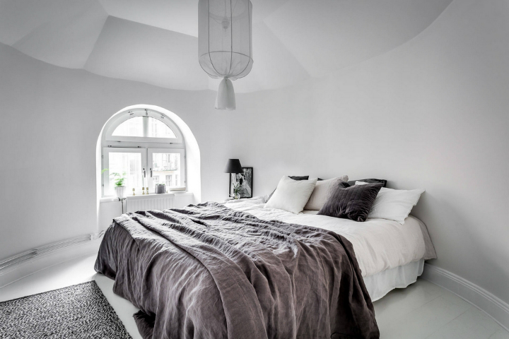 modern Scandinavian attic interior design 12