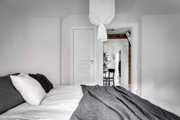 modern Scandinavian attic interior design 13