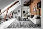 modern Scandinavian attic interior design