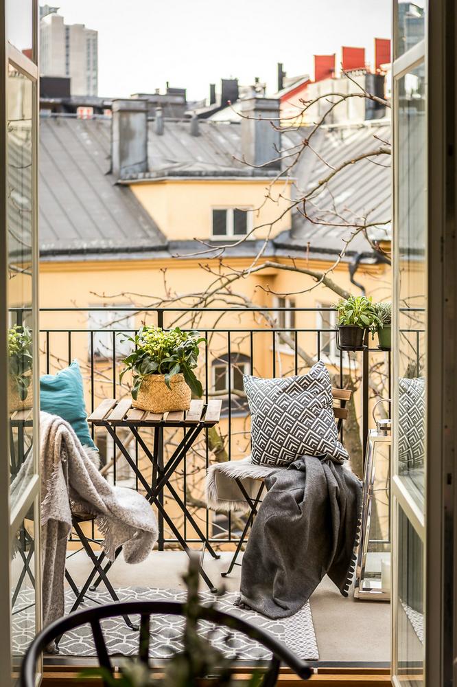 Scandinavian balcony