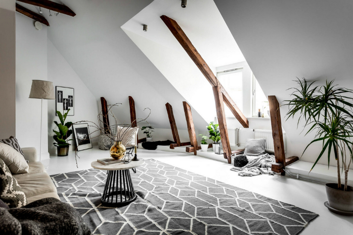 modern Scandinavian attic interior design 4