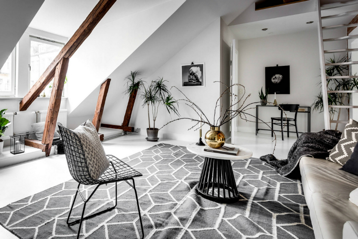 modern Scandinavian attic interior design 5