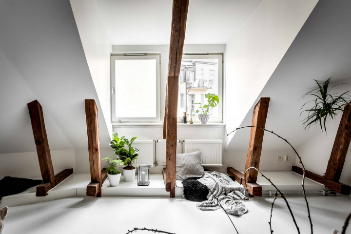modern Scandinavian attic interior design 7