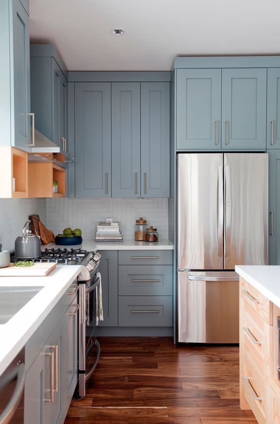 48 Blue Kitchen Design Ideas Decoholic Classy Blue Kitchen Designs