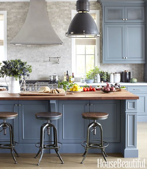 blue kitchen design idea 10