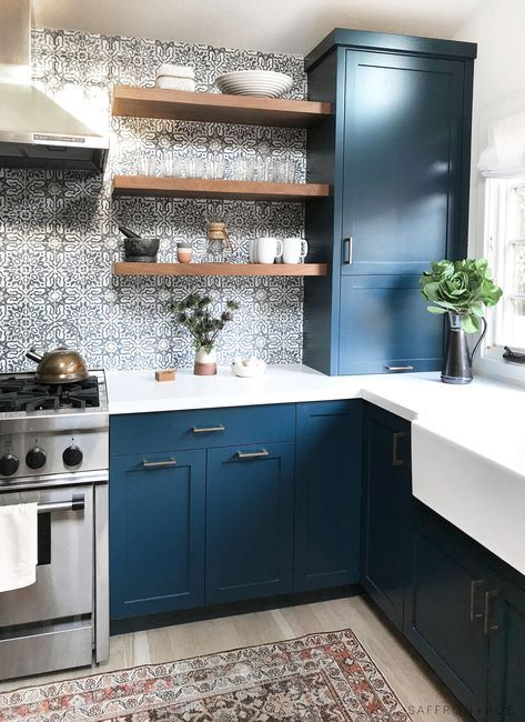 blue kitchen design 114