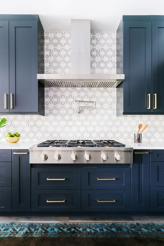 blue kitchen design idea 13