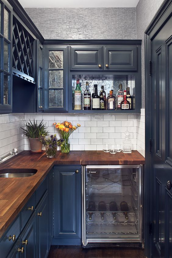 blue kitchen design idea 15