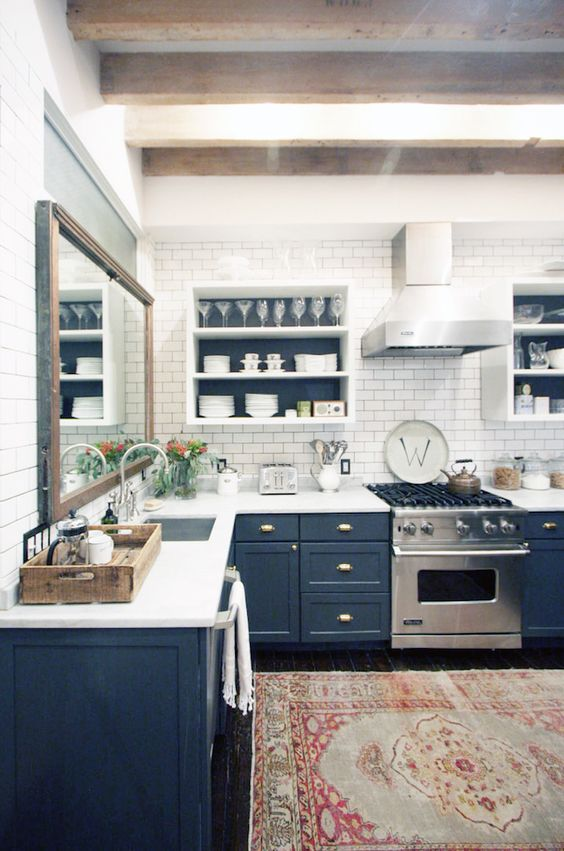 blue kitchen design idea 2