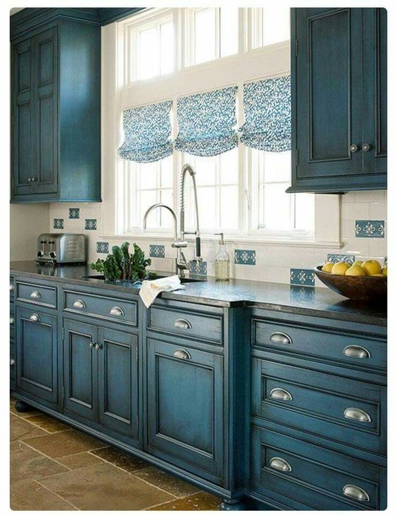 blue kitchen design idea 20