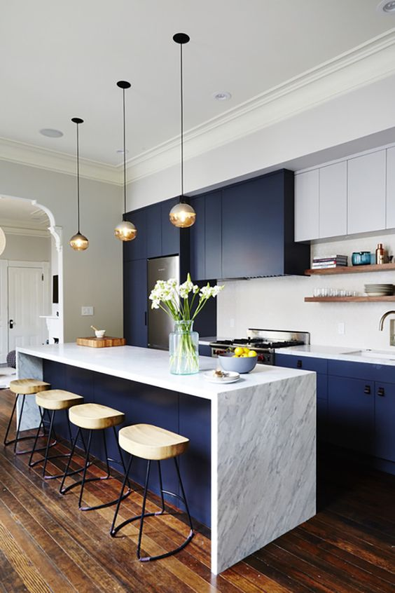 Beautiful Blue Kitchen Design Ideas Part - 4: Blue Kitchen Design Idea 3