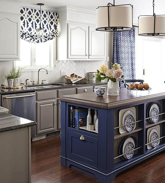 blue kitchen design idea 34