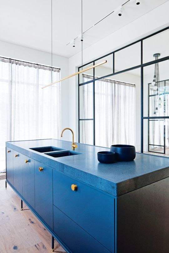 blue kitchen design idea 35