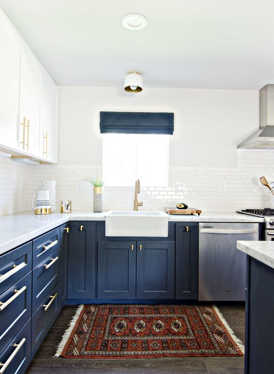 blue kitchen design idea 36