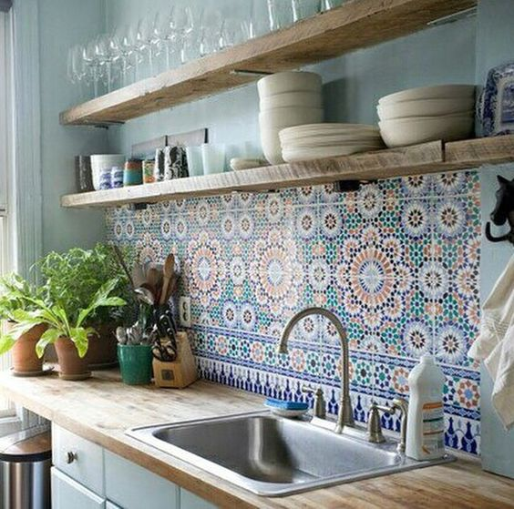 blue kitchen design idea 41