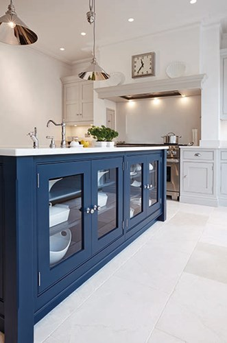 blue kitchen design idea 46