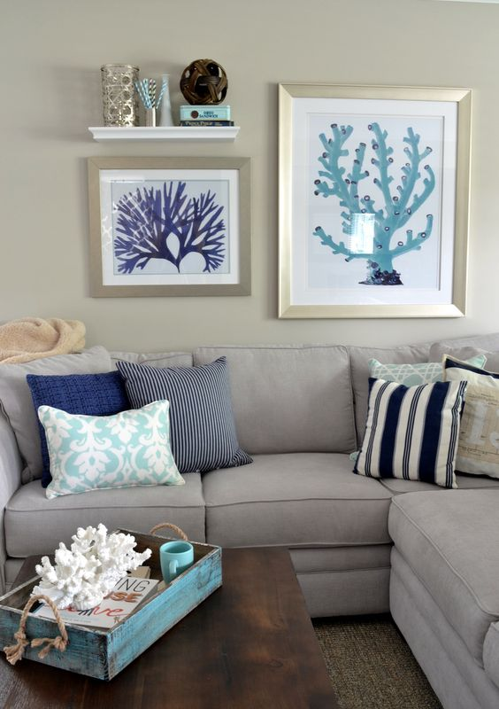 Coastal Living Room Idea 11