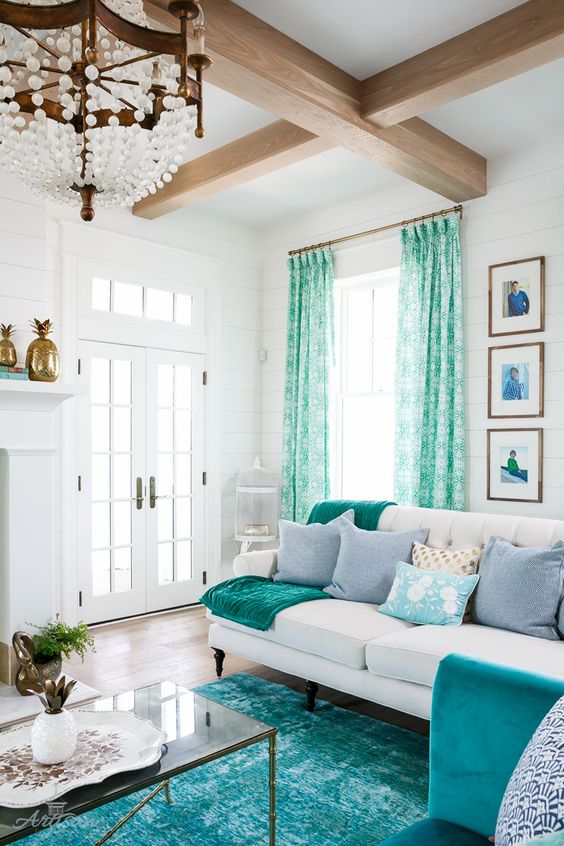 Coastal Living Room Idea 14