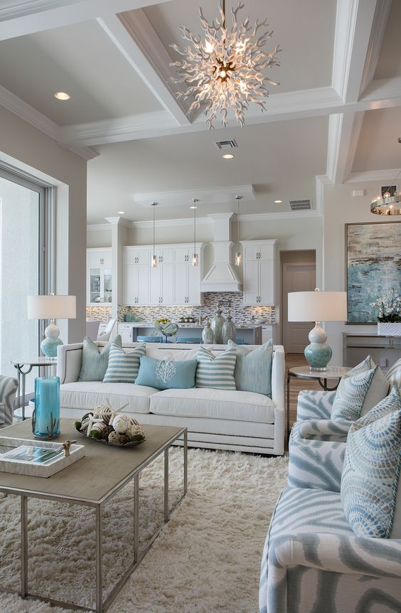living room in coastal style