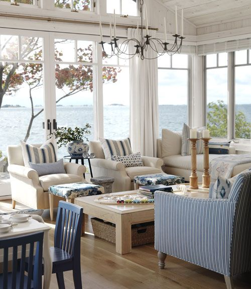 Coastal Living Room Idea 23