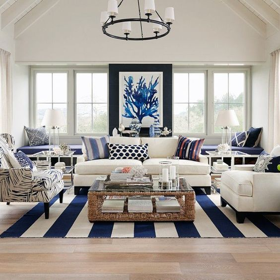 Coastal Living Room Idea 24