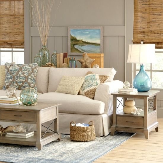 26 coastal living room ideas give your living room an awe for Coastal living rooms ideas