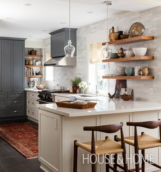Kitchen Peninsula Cooktop: 43 Kitchen With A Peninsula Design Ideas
