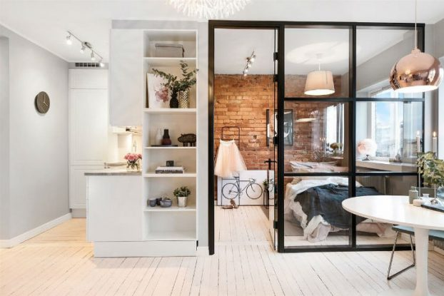 Small Scandinavian Apartment With Open and Airy Design