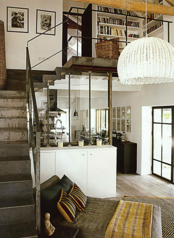 eclectic industrial home interior style