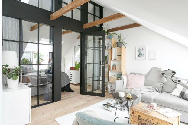 Scandinavian minimalism rustic apartment decor