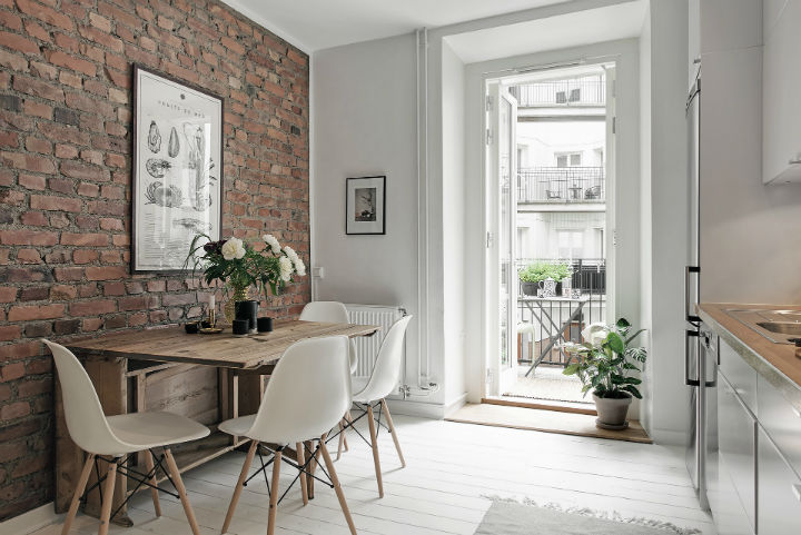 white Scandinavian apartment interior design 20