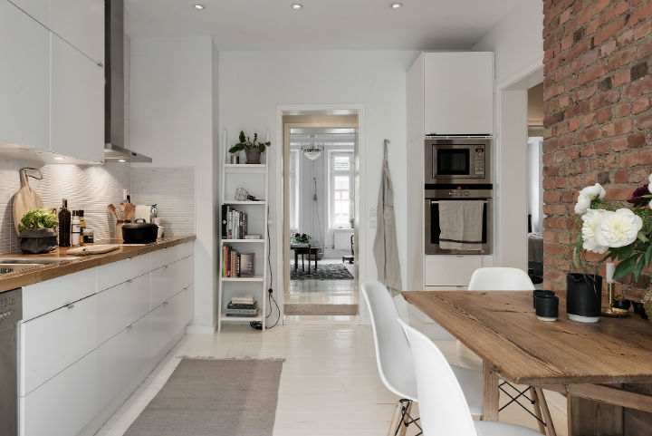 white Scandinavian apartment interior design 22