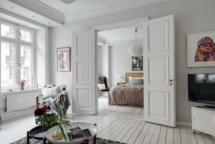 white Scandinavian apartment interior design 3