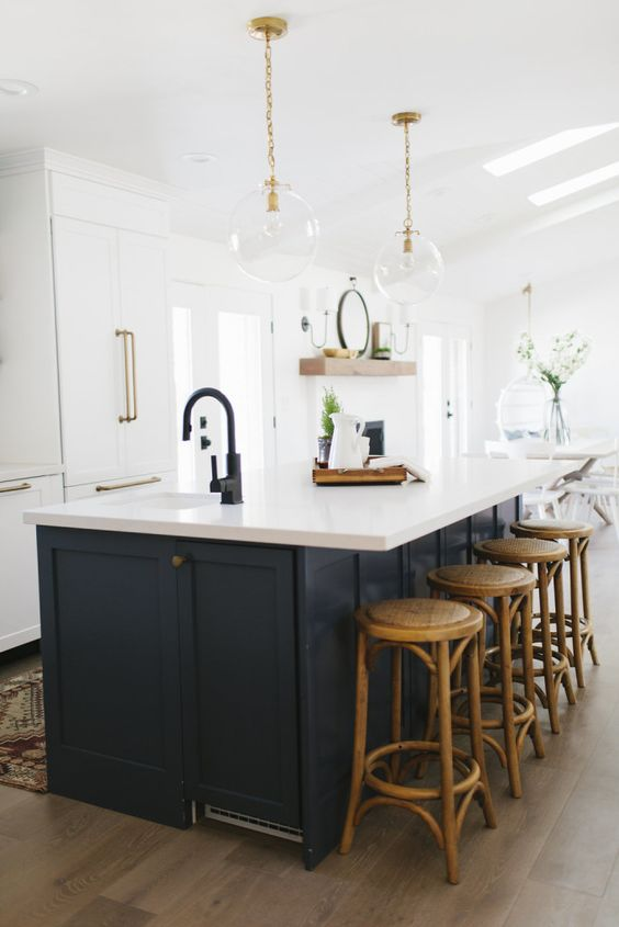 matte black kitchen faucet design idea