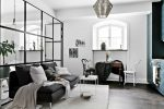 cozy Scandinavian studio apartment interior design