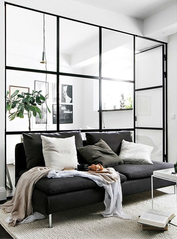 cozy Scandinavian studio apartment interior design 4