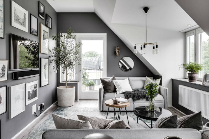 grey home decoration idea