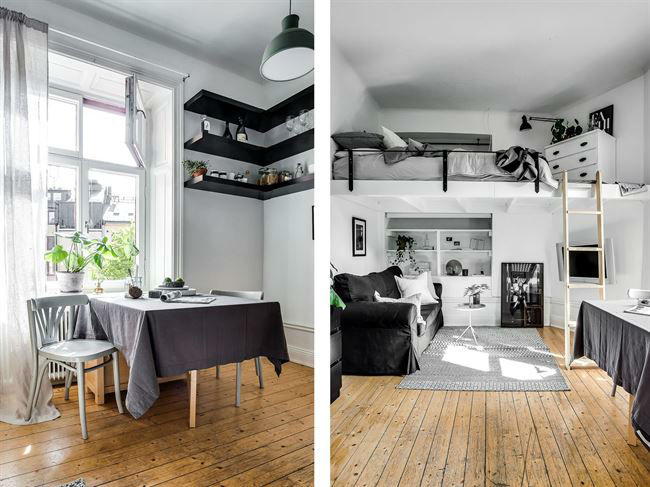 Tiny Scandinavian Studio Loft 2