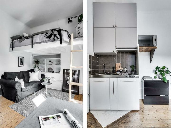 Tiny Scandinavian Studio Loft 5