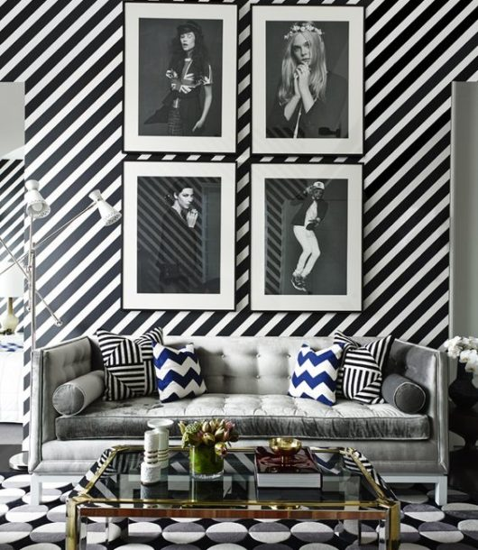 Black and White One-Bedroom Apartment