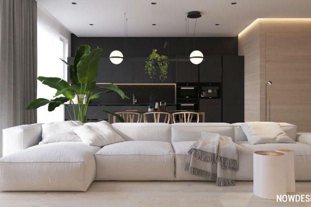 contemporary functional apartment interior design