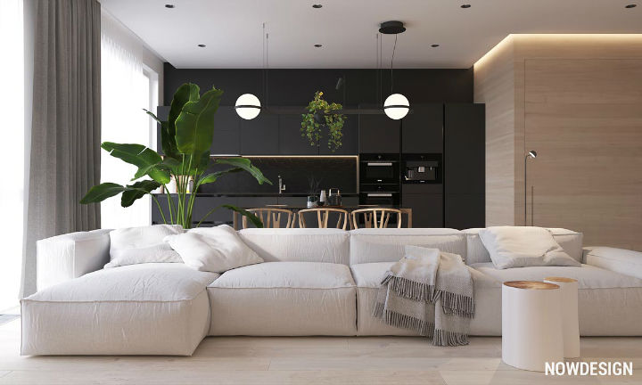 contemporary functional apartment interior design