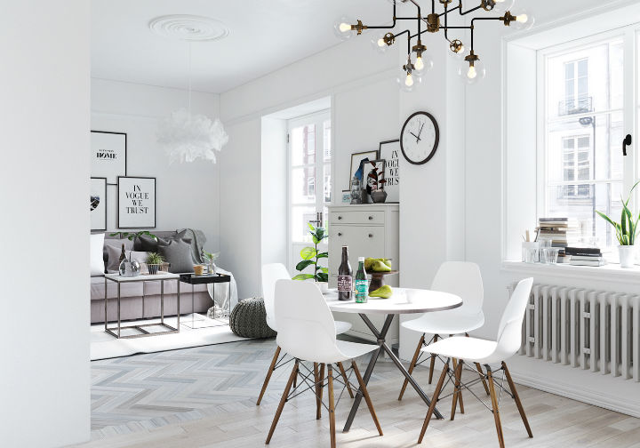 fictional chic Scandinavian apartment interior design 3