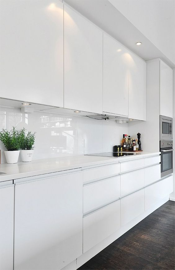Clean White kitchen