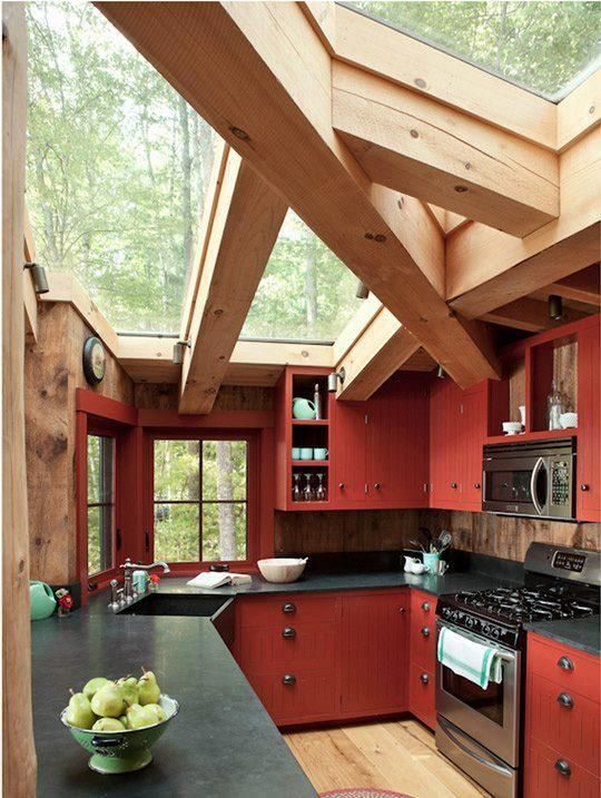 Earthy Red kitchen